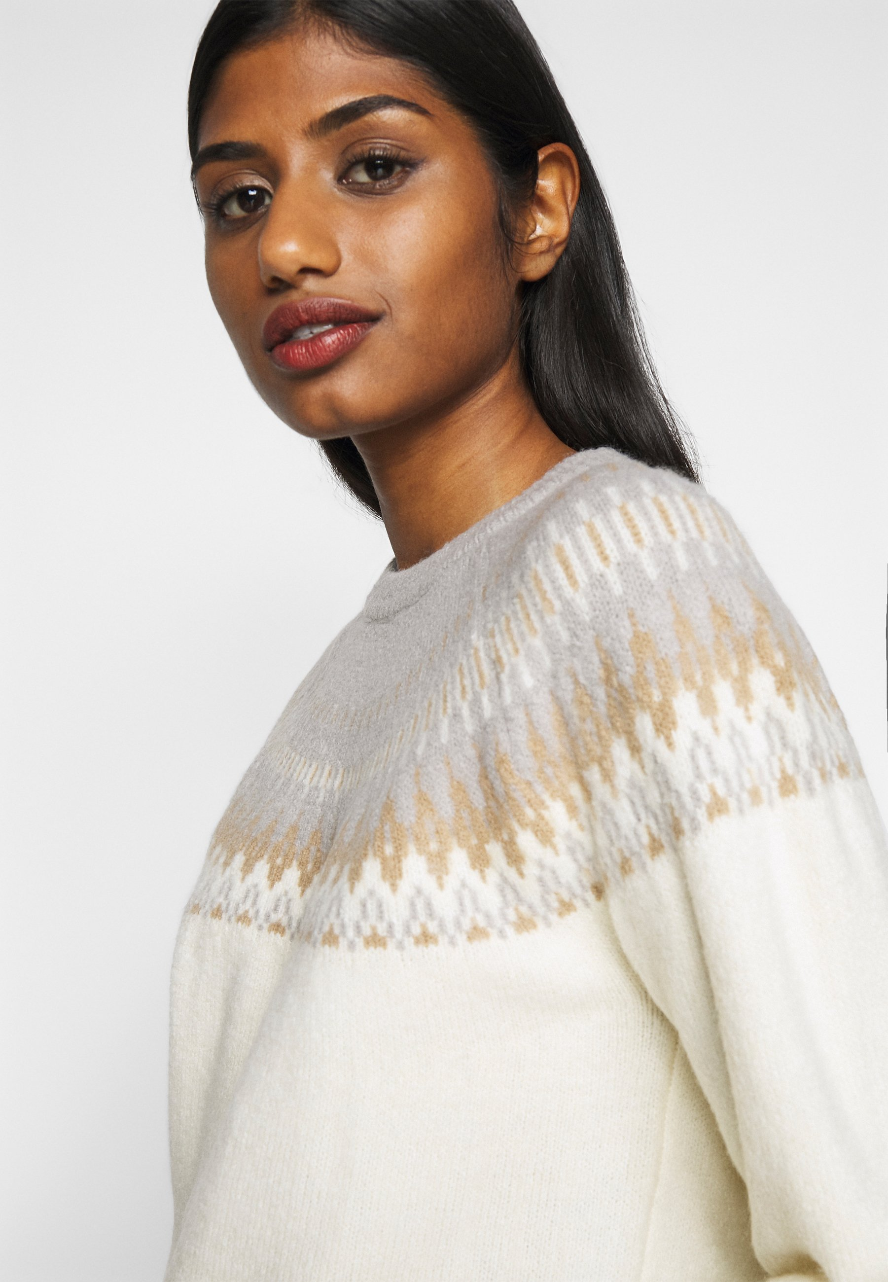 Fashion Union Petite FAIRY - Trui - grey - Dames jas Ontwerper