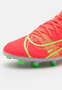 Nike Performance - MERCURIAL 8 CLUB MG - Moulded stud football boots - bright crimson/metallic silver - 5