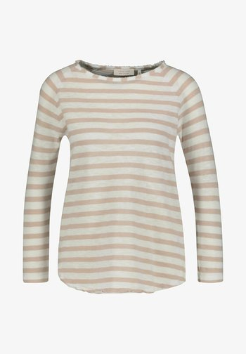 HEAVY STRIPED - Long sleeved top - sand