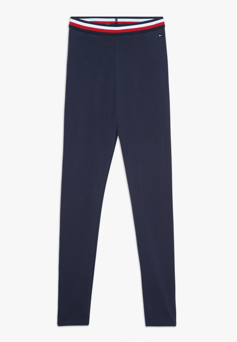 Tommy Hilfiger - ESSENTIAL SOLID ICONIC - Leggings - blue