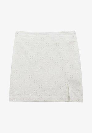 WEISSER SCHWEIZER STICKEREI - A-line skirt - white