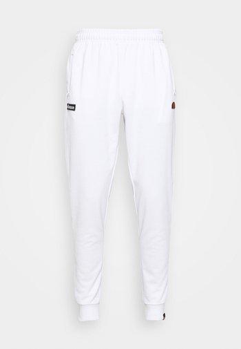 BERTONI TRACK PANT - Träningsbyxor - white