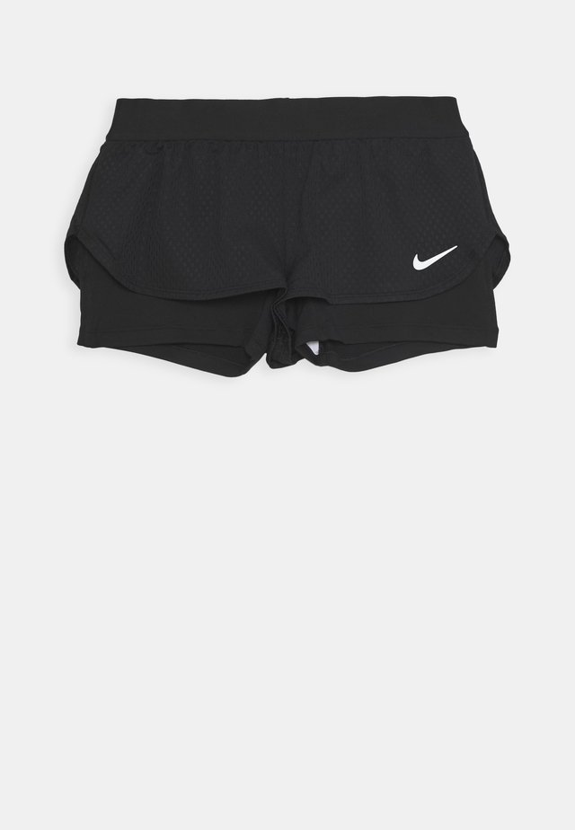 SHORT 2-IN-1 - Sports shorts - black/white