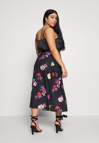 Lost Ink Plus - RUCHED DETAIL PRINTED MIDI SKIRT - A-linjainen hame - multi - 2