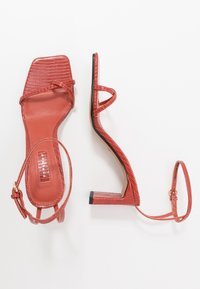 Topshop - NATURE STRAPPY BLOCK - T-bar sandals - rust - 3