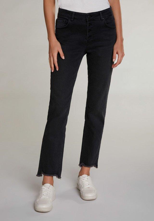 Straight leg jeans - darkgrey denim