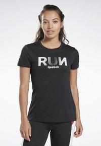 Reebok - RUNNING ESSENTIALS TEE - T-shirt print - black - 0