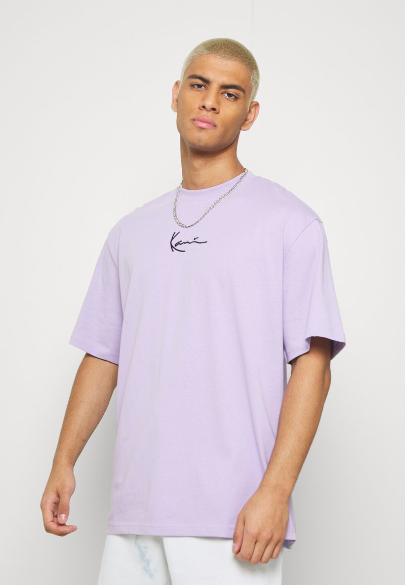 Karl Kani - SMALL SIGNATURE TEE - Basic T-shirt - lilac