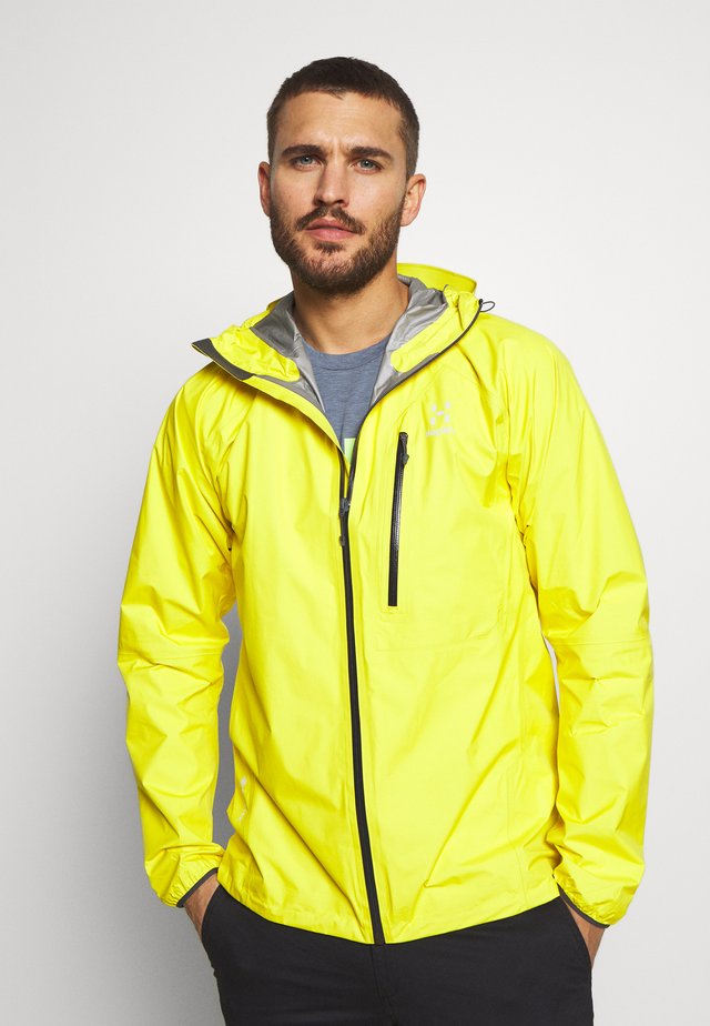 JACKET MEN - Hardshell jacket - signal yellow