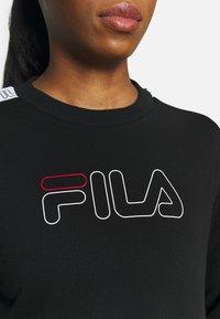Fila - JACKI TAPED CREW - Sweatshirt - black/bright white - 5