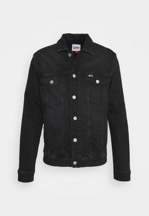 REGULAR TRUCKER JACKET - Kurtka jeansowa - max black