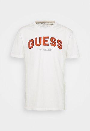 COLLEGE TEE - Print T-shirt - pure white
