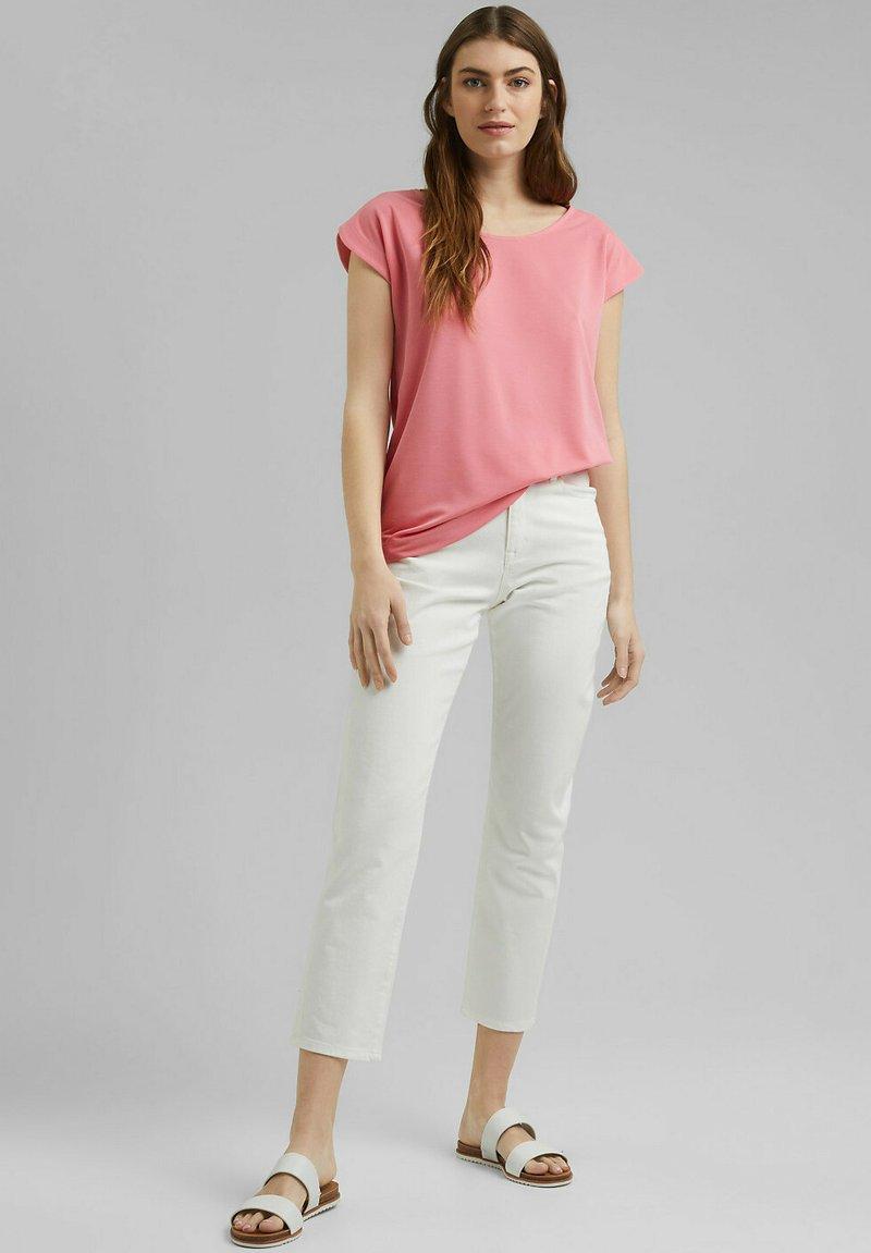 Esprit - FASHION - Basic T-shirt - coral
