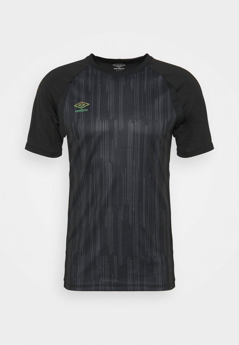 Umbro - PRO TRAINING ELITE GRAPHIC - Print T-shirt - black/carbon
