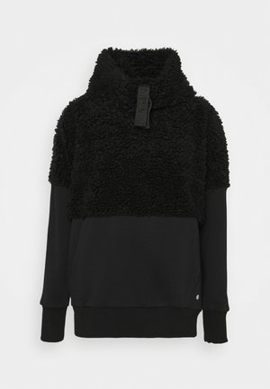 HIGH NECK - Fleece jumper - black
