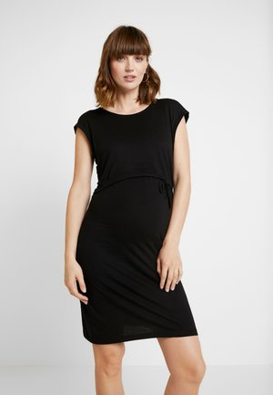NURSING DRESS - Sukienka z dżerseju - black
