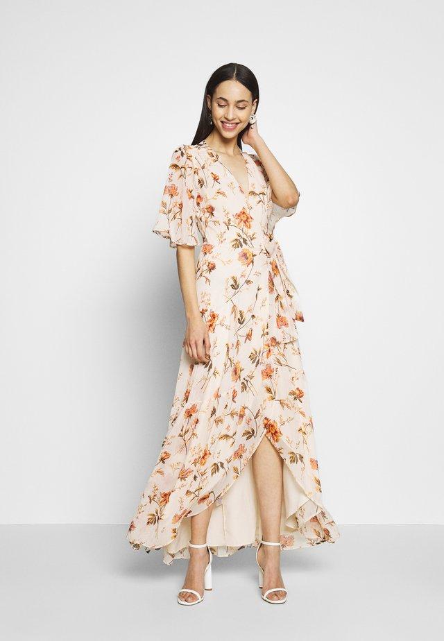 Vestido largo - offwhite/orange