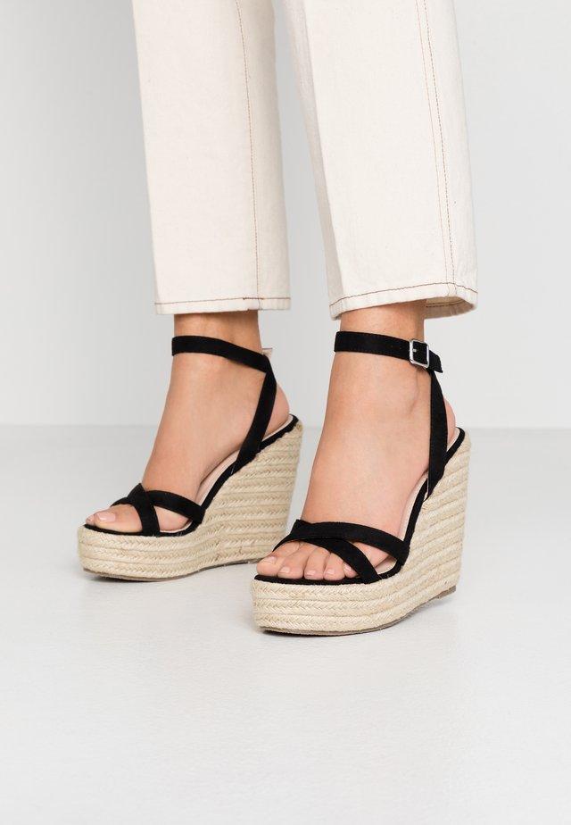 ELISHA - Højhælede sandaletter / Højhælede sandaler - black