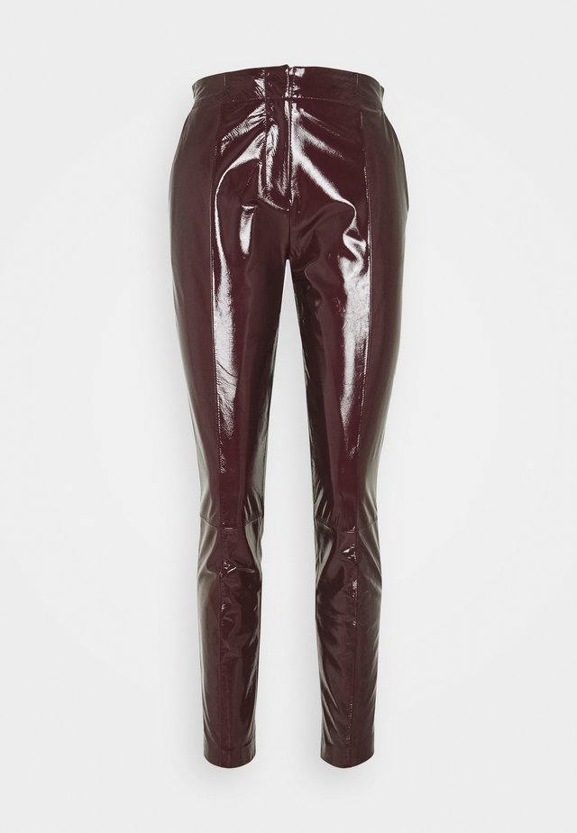 DEAN - Leather trousers - sassafras