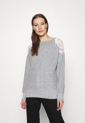 WINE SHOULDER BRUSHED - Pullover - grey