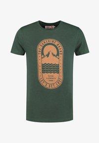 Shiwi - TROPICS PLACED PRINT - Print T-shirt - cilantro - 3
