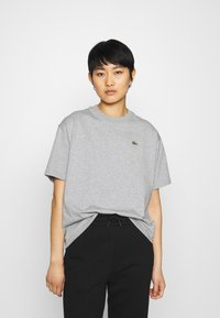 Lacoste LIVE - T-shirt print - heather wall chine - 0