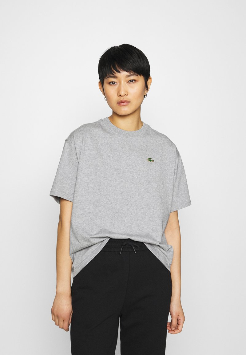 Lacoste LIVE - T-shirt print - heather wall chine