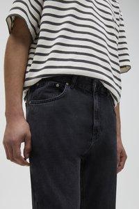 PULL&BEAR - Jeans straight leg - mottled dark grey - 3