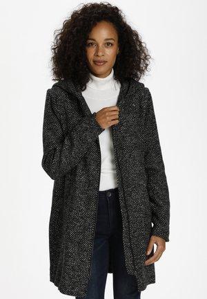 SISTA - Short coat - grey melange herringbone