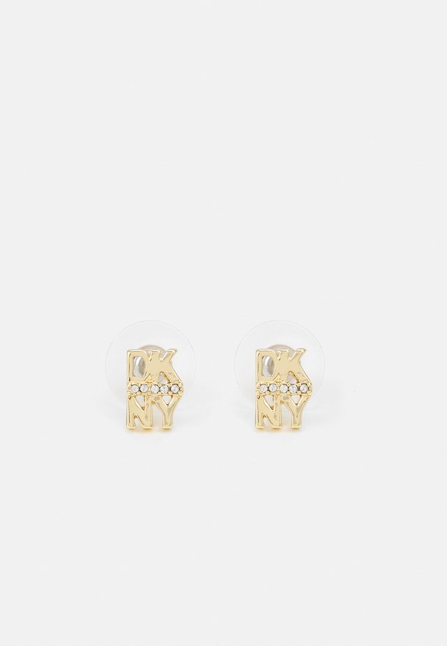 PAVE LOGO BUTTON - Earrings - gold-coloured