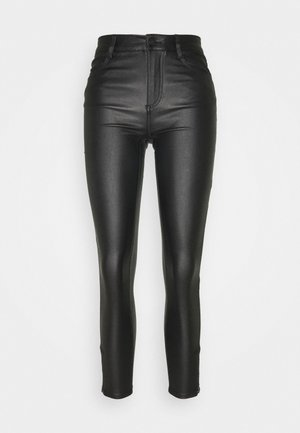VICOMMIT COATED ZIP PANT - Trousers - black