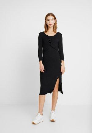 BRUSH - Jumper dress - black