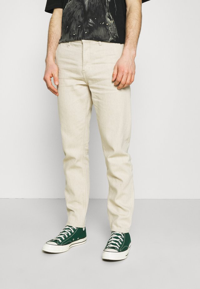BARREL - Jeans Tapered Fit - washed linen