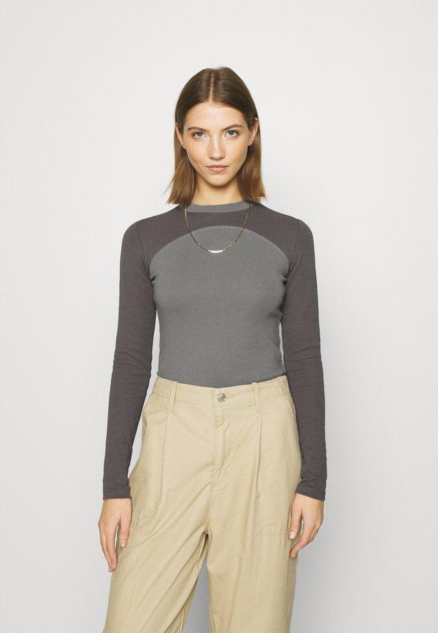 Topper langermet - gray/offblack