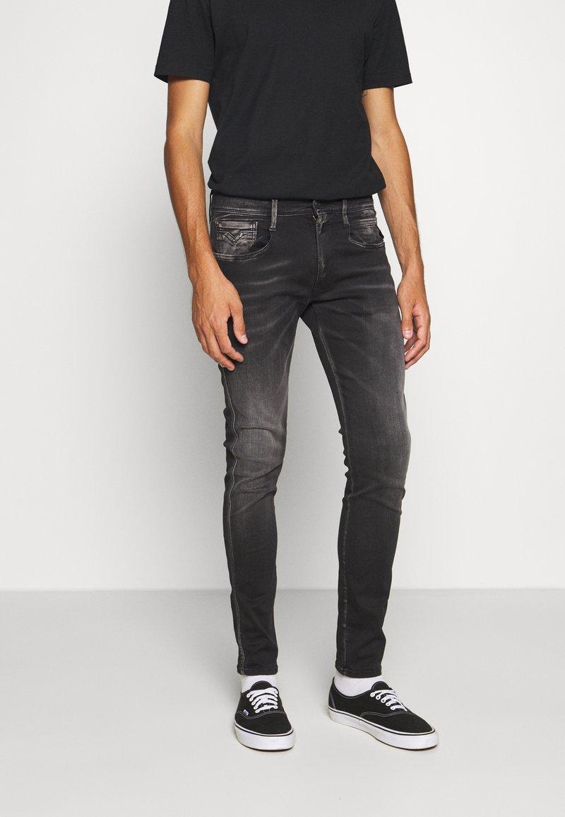 Replay - ANBASS HYPERFLEX BIO - Slim fit jeans - black