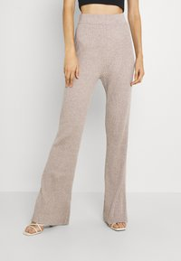 Fashion Union Tall - KYLIE FLARE TROUSERS - Leggings - taupe marl - 2