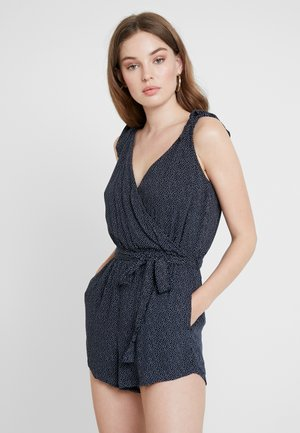 V NECK ROMPER - Jumpsuit - navy