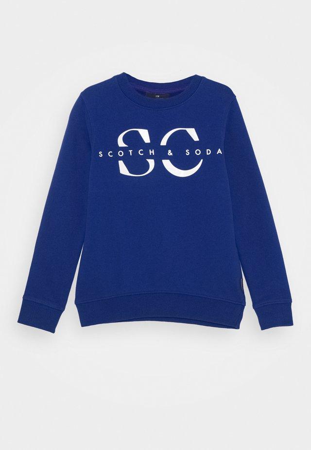 CREW NECK WITH LOGO - Sudadera - yinmin blue