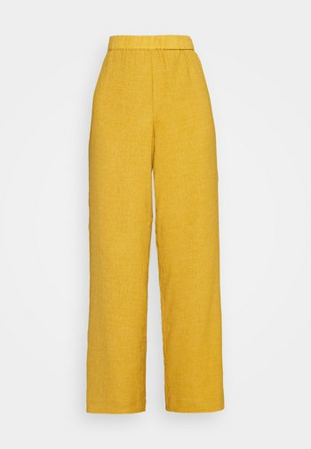 PANTS - Trousers - mustard