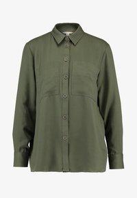 Esprit - UTILITY BLOUSE - Button-down blouse - khaki green - 3