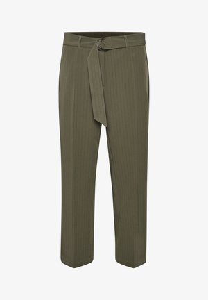 Pantalones - grape leaf / black pin stripe