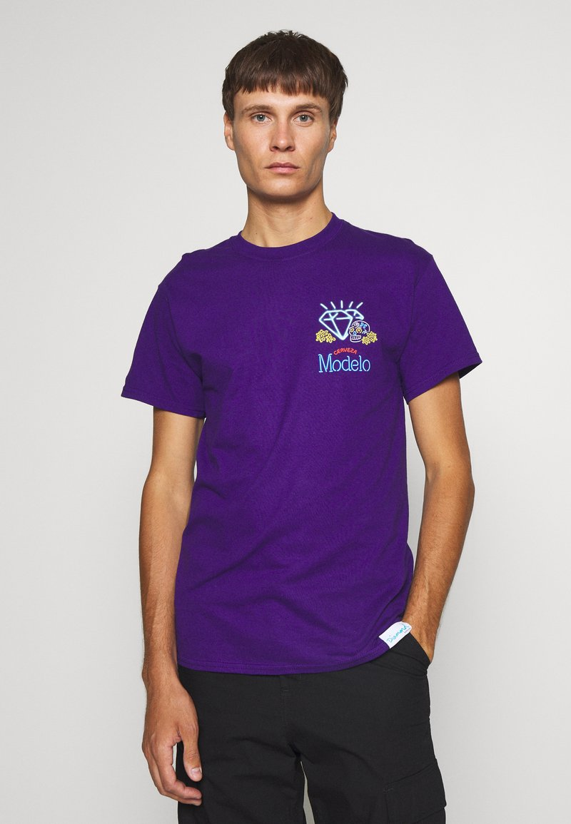 Diamond Supply Co. - NEON SIGN TEE - Print T-shirt - purple