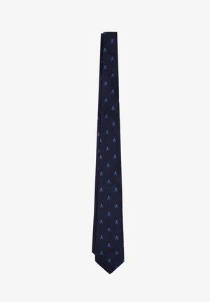 SKULL - Tie - navy/blue