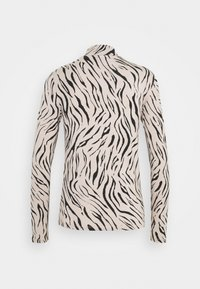 Vila - VIBULIS ZEBRA FUNNELNECK - Long sleeved top - simply taupe - 1