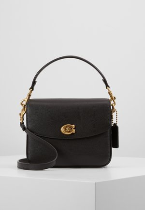 POLISHED PEBBLED CASSIE CROSSBODY - Torebka - black