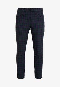 GAP - SKINNY ANKLE ZIPPER PLAID - Spodnie materiałowe - blackwatch plaid - 4