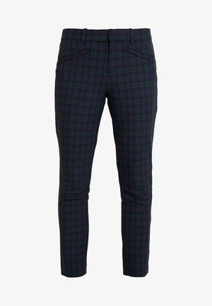 SKINNY ANKLE ZIPPER PLAID - Kalhoty - blackwatch plaid