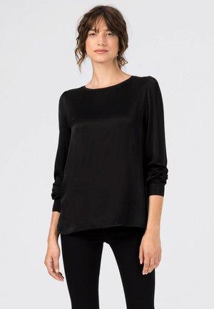 MIT STRICKBLENDEN - Langarmshirt - schwarz
