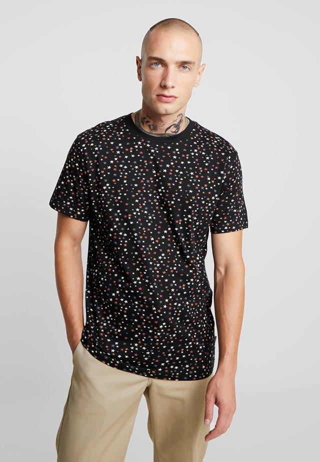 STAR  TSHIRT - T-shirt con stampa - black