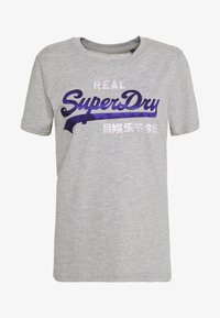 Superdry - DUO ENTRY TEE - T-shirts med print - grey marl - 0